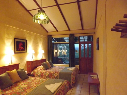 Observatory lodge homely bedrooms in Arenal Costa Rica