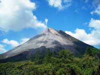 view of a volcano in costa rica