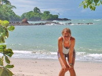 Woman on Manuel Antonio beach