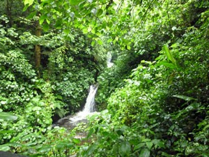 Costa Rica central valley waterfall