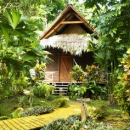 Costa Rica thatched hut