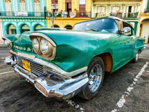 Classic car from 1950s in Cuba