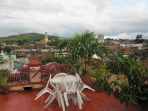 rooftop terrace at casa in cuba
