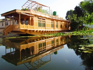 moored houseboat