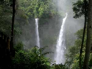 Waterfalls in south Laos