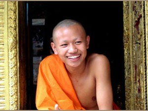 young monk in laos