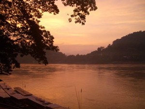 sunset at river