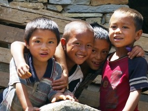 local children smiling