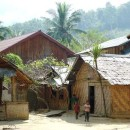 small village of the hill tribe