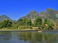 View of Vang Vieng's Karst Mountains