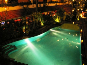 Malang swimming pool at night