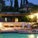 Mendoza hotel outdoor swimming pool with lounge chairs