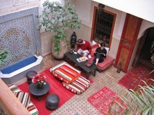lounge in marrakesh hotel