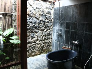 Outside bathroom accommodation in Ninh Binh Vietnam