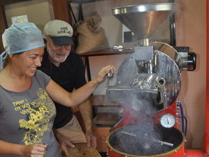 customers making coffee in panama