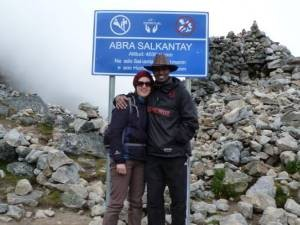 Young couple on the salkantay trek, Peru