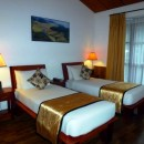 Nice twin room of the accommodation