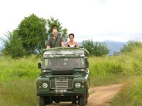 Customers in their jeep for the safari