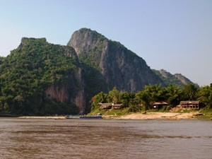 river mountain landscape view north laos