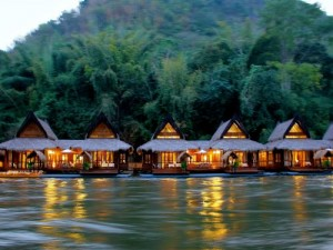 river kwai floating rafts