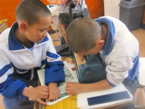 children at braille without borders in tibet