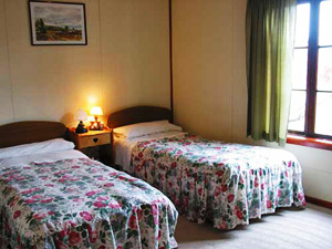 torres del paine hotel room two beds