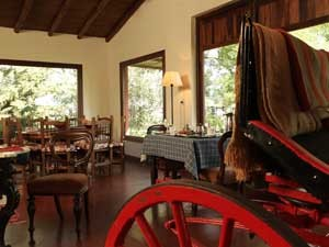Restaurant with horse carriage