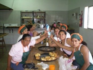 group in community kitchen