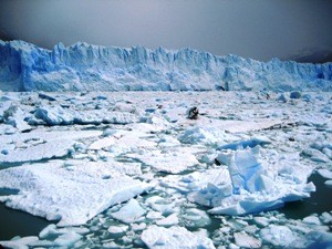 Glacier and frozen sea