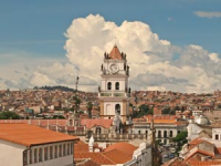 Bolivia view of city with red tile rooftops