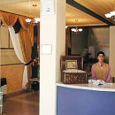 hotel reception and receptionist