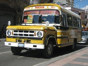 micro bus in bolivia