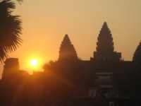 Sunrise over Angkor Wat temple in Siem Reap, Cambodia