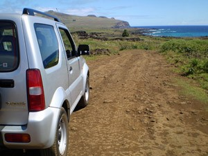 Driving on Easter Island