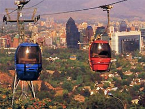 Cable cars in Santiago Chile