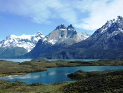 Landscape view of Torres del Paine