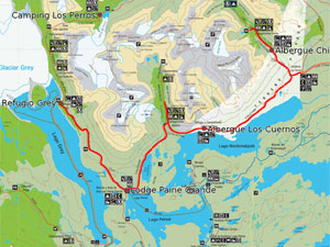 map of the trekking way