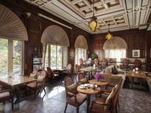 Restaurant at colonial-style hotel on Nanjing Road in Shanghai