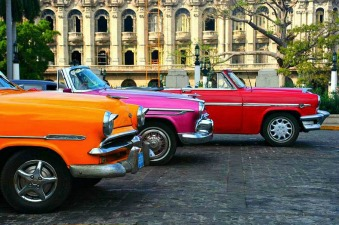 colorful classic cars in cuba
