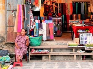 Hoi An local woman at market stall