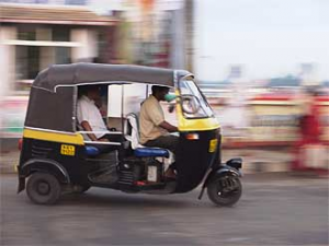 India local driving rickshaw