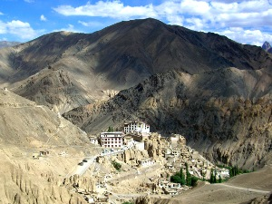 India monastery in mountains