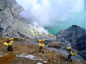 trekking a volcano in java