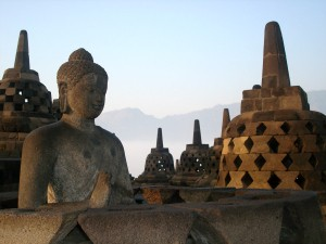 borobudur temple with buddha
