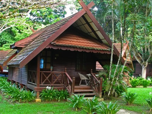 Malaysia Bungalow hotel with garden