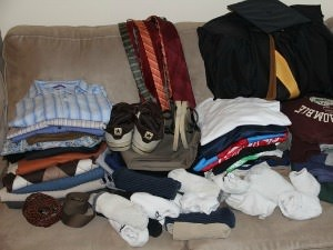 donated pile of clothes