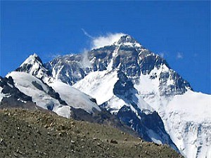 snow covered mount everest