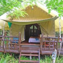 Kwai tent accommodation with porch