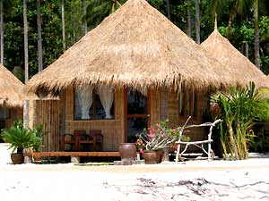 Thailand hut on beach