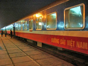 Vietnam train at station